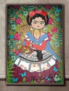 dia de muertos frida kahlo caricaturas - Buscar con Google