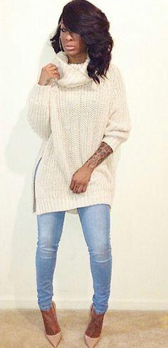 Sweater + Denim.