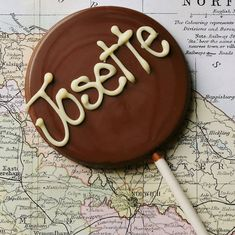 personalised handmade chocolate lolly by the chocolate deli | notonthehighstreet.com