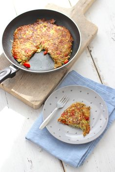 Aardappelrosti met courgette en paprika