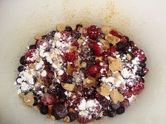 White Chocolate and Mixed Berry Cobbler/Cake
