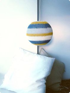 Crochet Lampshade Pattern Instant Download by annemariesbreiblog