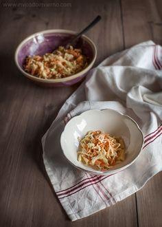 Coleslaw o ensalada de col americana | Recetas con fotos paso a paso El invitado de invierno