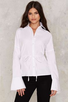 Full Moon Tie Blouse | Shop Clothes at Nasty Gal!