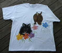 Bunny Portrait TShirt Made From Your Favorite by cottontailquilts