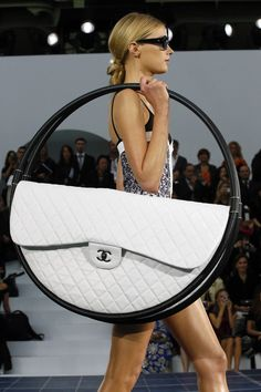 Chanel Hula Hoop Bag by Chanel  love it.  Karl wants us to use it to exercise too. He is so crazed.