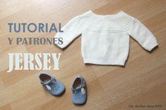 Tutorial para tejer un precioso jersey de bebé