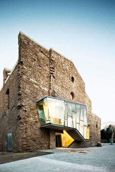 Dilapidated Sant Francesc Church Reinvented by David Closes // Santpedor, Spain.