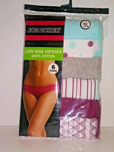 f4b91dbd0c43 Joe Boxer Low Rise Hipster 6PK 7LG 100% Cotton #fashion #clothing #shoes  #accessories #womensclothing #intimatessleep (ebay link)