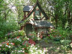 Tiny, crooked little house buried in the woods somewhere...