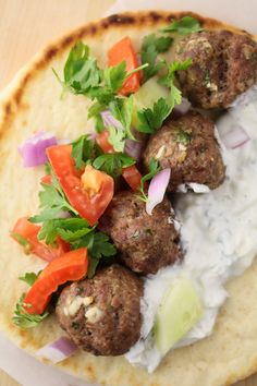 Great to make this weekend: Meatball Gyros. These were sooo delicious.