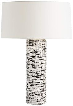 Arteriors Home Charcoal Wash Ivory 29-Inch-H Table Lamp - #EU7V265 - Euro Style Lighting