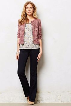 Anthropologie Jeans MIH LONDON MID-RISE SUBTLE BOOTCUT $187 Kara Dark Wash 24 #MiHJeans #BootCut