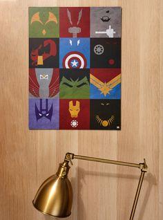 Marvel Avengers Minimal Wall Art
