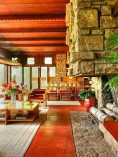 Don and Virginia Lovness residence (1955), Stillwater, Minnesota. The only Frank Lloyd Wright house intact with Frank Lloyd Wright furniture. A true treasure.