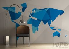 5 Map Wall Murals That You Can't Pass By Indifferently | pixersize.com / blog
