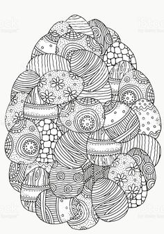 coloring page Easter eggs on Kids-n-Fun. At Kids-n-Fun you will always find the nicest coloring pages first! Easter Egg Coloring Pages, Spring Coloring Pages, Cool Coloring Pages, Mandala Coloring Pages, Printable Coloring Pages, Adult Coloring Pages, Coloring Books, Easter Egg Designs, Easter Art