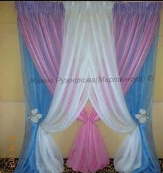 Drapery, curtains, blinds and window treatments. Girls Bedroom Curtains, Drapes Curtains, Kids Bedroom, Bedroom Decor, Window Coverings, Window Treatments, Rideaux Design, Diy Backdrop, Stage Decorations