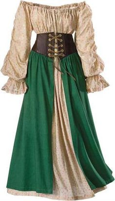 Tavern Wench Ensemble Costume -The Pyramid Collection - Renaissance Festival Renaissance Fair Costume, Medieval Costume, Renaissance Clothing, Renaissance Gypsy, Medieval Witch, Medieval Outfits, Hobbit Costume, Wench Costume, Corset Costumes