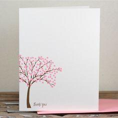 Thank You Cards / Thank You Notes / Cherry Tree / Stationery / Stationary - Cherry Tree. $18.00, via Etsy.