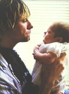 Kurt and Frances Bean Cobain <3