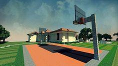 Minecraft basketball court