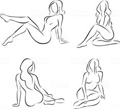 4 vector illustrations of stylized nude female figures. One of a. - - 4 vector illustrations of stylized nude female figures. One of a… Фотки Stylized nude female figures 2 royalty-free stock vector art Female Drawing, Drawing Poses, Female Art, Female Portrait, Sexy Drawings, Pencil Art Drawings, Art Sketches, Boudoir Photos, Boudoir Photography
