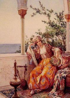 Batılı yazarların Harem hayatını tasvir eden bir çok kitabı ressamlar eliyle resme aktarıldı.