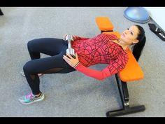 Cvičení na nohy (stehna), hýždě (zadek) - vhodné cviky na hubnutí břicha - YouTube