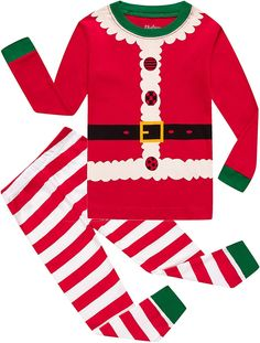 be3375257c3d8 Girls Christmas Pajamas Children Boys Pjs Sleepwear Kids Clothes Stripe  Pants Set - Red-christmas-stripe - CU18M5O8RTS