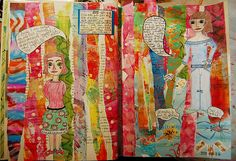 Art Journal Strip Ease - create collage with strips