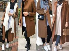 Fashion Quotes : Winter colorful coats with hijab – tan coats with hijab- Just Trendy Girls Islamic Fashion, Muslim Fashion, Modest Fashion, Fashion Outfits, Hijab Style, Hijab Chic, Hijab Fashionista, Street Hijab Fashion, Hijab Fashion Inspiration