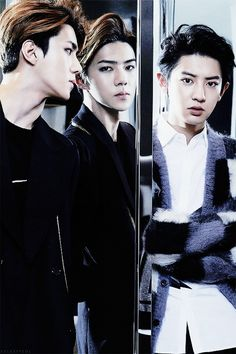 This has got to be one of my favorite pictures of Chanyeol and Sehun!
