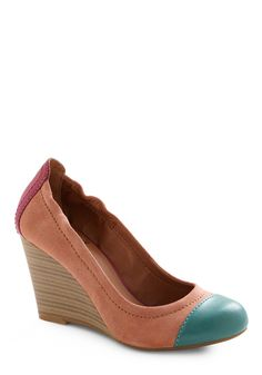 Miss Mesa Verde Wedge by Lucky - Multi, Green, Pink, Color Block, Casual, Wedge