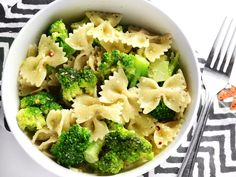 """This insanely simple dinner """"cheat"""" is ready in minutes and will keep you full for hours. Bowties and Broccoli is my go-to lazy weeknight dinner."""