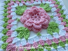 Ravelry: Flower in granny square pattern by Crochet- atelier ♡ Teresa Restegui http://www.pinterest.com/teretegui/ ♡