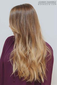 Hair Color by JOHNNY RAMIREZ • Ramirez|Tran Salon • 310.724.8167 • info@ramireztran.com // #johnnyramirezhaircolor #johnnyramirez #ramireztransalon #boxno216 #beautifulhair #wavyhair #longhair #blonde #brunette #beverlyhills #beforeandafter