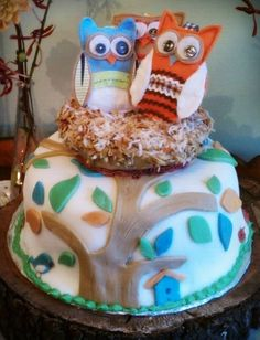 Owl Theme Cake