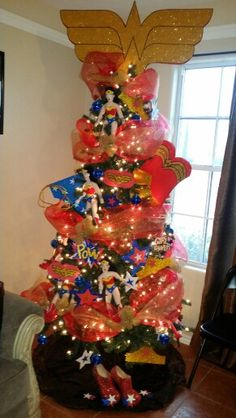 wonder woman christmas tree