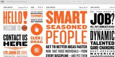 Examples of Unusual Navigation in Web Design Web Design Tips, Web Design Trends, Web Design Inspiration, App Design, Grid Design, Graphic Design, Mobile Design, Design Art, Typography Fonts