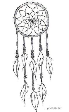 dream catcher tattoo outline idea.  More detail in middle--sunflower/aum