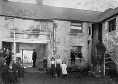 Image of Gorman's Yard, Inchicore, An example of the insanitary living conditions of Dublin's poor in the early years of the twentieth century. b/w photo Colorized by Pearse. Old Pictures, Old Photos, Photo Engraving, 2017 Design, Historical Photos, Dublin, Past, Ireland, Around The Worlds