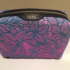 Victoria's Secret Lace makeup bag NWT! Gorgeous Victoria's Secret lace makeup bag Victoria's Secret Bags Cosmetic Bags & Cases