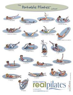 Cartão de Exercícios de Pilates