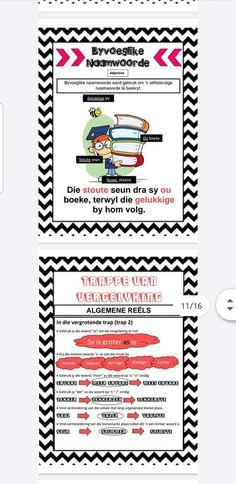 Afrikaans Language, Wallpaper Iphone Cute, Valentines For Kids, Punctuation, Homeschooling, Kid Stuff, Classroom, Van, Education
