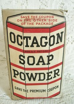 Octagon Soap Powder Unopened Colgate Palmolive 1930s Advertising Box - eCrater Stores Network