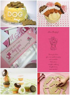 Cute ideas for a doggy party. Yeah. I will totally be doing this for Penny. :)
