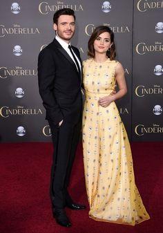Richard Madden and Jenna Coleman at Cinderella premiere