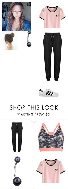 """""""Rp"""" by ikonic-monbebe ❤ liked on Polyvore featuring adidas"""