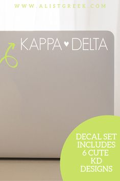 The perfect Kappa Delta laptop decal from www.alistgreek.com! #sororitysticker #greekletters #sororityletters #cardecal #laptopsticker #statesticker #sticker #decal #kappadelta #kd #kaydee #kddecal #kdsticker #biddaygifts